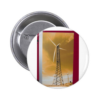 NVN16 NavinJOSHI Natural CLEAN Wind Energy GIFTS 6 Cm Round Badge