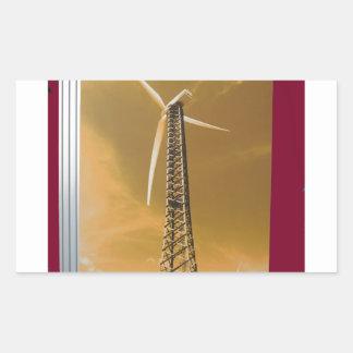 NVN16 NavinJOSHI Natural CLEAN Wind Energy GIFTS Rectangular Sticker
