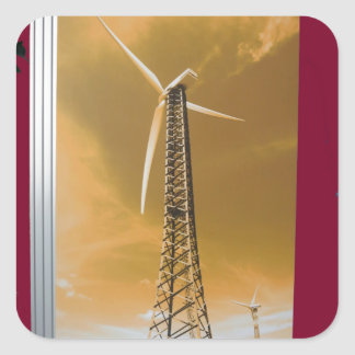 NVN16 NavinJOSHI Natural CLEAN Wind Energy GIFTS Square Sticker