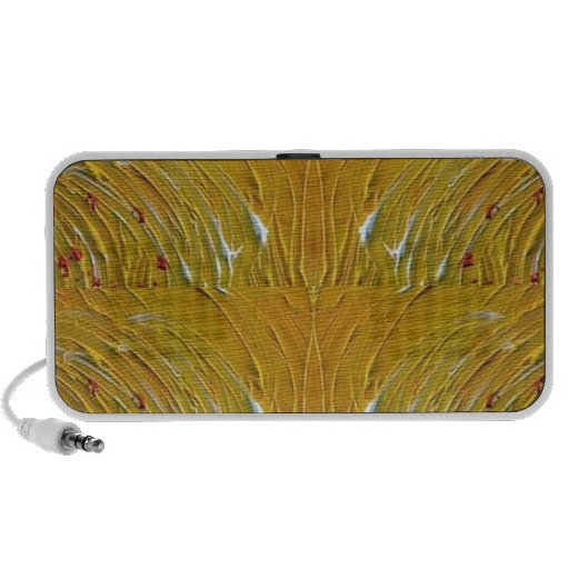 NVN25 navinJOSHI Sparkle Gold Jewel Pattern  101 iPod Speaker