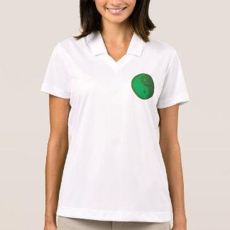 NVN27 navinJOSHI Green Balance YIN YANG Chinese Polo T-shirt