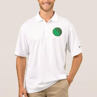 NVN27 navinJOSHI Green Balance YIN YANG Chinese Polo