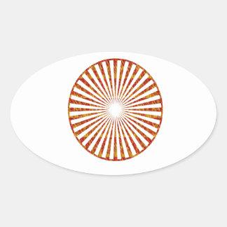 NVN34 navinJOSHI Chakra Mandala SunChakra GIFTS Oval Sticker