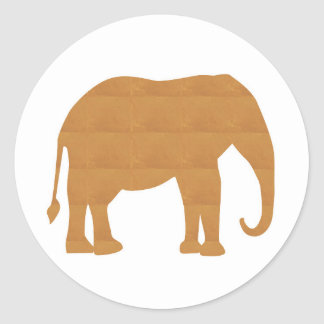 NVN353 Elephant Pet Animal Doll Game Kids FUN Classic Round Sticker