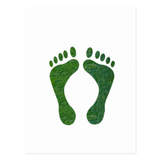 NVN36 navinJOSHI Green FOOTprint EarthDay Warming Postcard