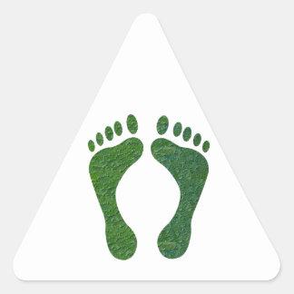 NVN36 navinJOSHI Green FOOTprint EarthDay Warming Triangle Sticker