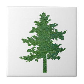 NVN37 navinJOSHI Symbolic Green Environment Tree Small Square Tile