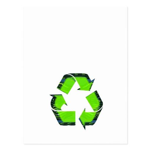 NVN426 RECYCLE Green Earthday Globalwarming FUN Post Card
