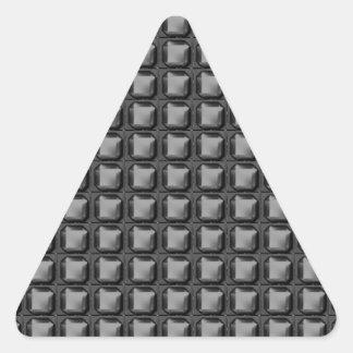 NVN4 Black Sq Rect Art by NavinJOSHI Triangle Stickers