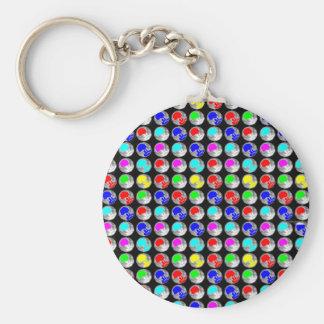 NVN5 NavinJOSHI Art Blue Red COLORFUL Sparkles Key Chain