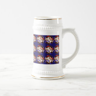NVN6 Elegant BLUE Sunflower Sun CHAKRA NavinJOSHI Coffee Mugs