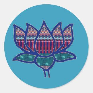 NVN724 Lotus Flower Pure Spiritual Yoga Meditation Classic Round Sticker