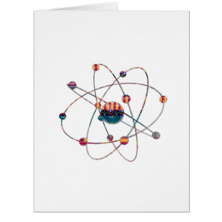NVN725 ATOM Artistic Science Lab Space Molecular Card