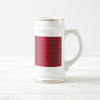 NVN7 NavinJoshi Art INTENSE RED Energy Squares Coffee Mug