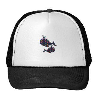 NVN85 WHALE fish aquatic aquarium NavinJOSHI art Hats
