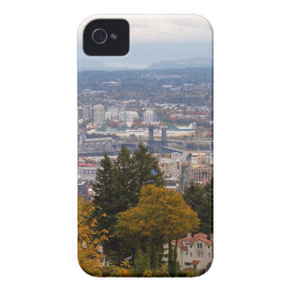NW and NE Portland Cityscape during Fall Season iPhone 4 Case