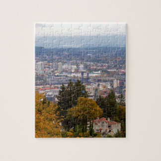 NW and NE Portland Cityscape during Fall Season Jigsaw Puzzle