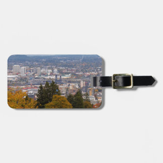 NW and NE Portland Cityscape during Fall Season Luggage Tag