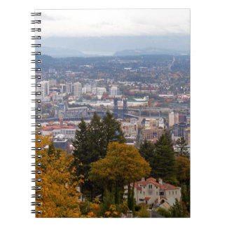 NW and NE Portland Cityscape during Fall Season Notebook