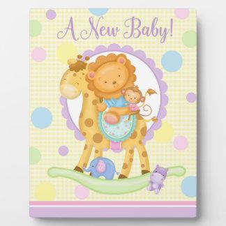 Nw Baby Giraffe Rocking Horse Art Easel Plaque