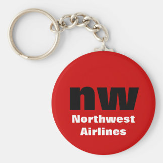 nw basic round button key ring