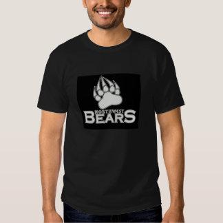 NWBears T-Shirt, white logo, black background Tshirts