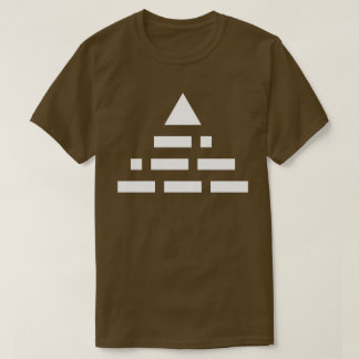 NWO (morse code) pyramid 2nd white T-Shirt