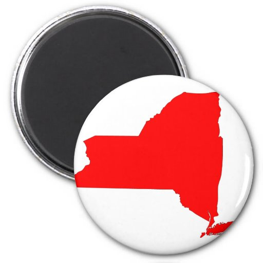 NY a Red State Fridge Magnets