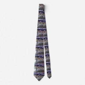 NY bridge stripe tie