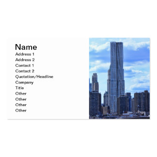 NY By Gehry / 8 Spruce St from the East River A1 Pack Of Standard Business Cards