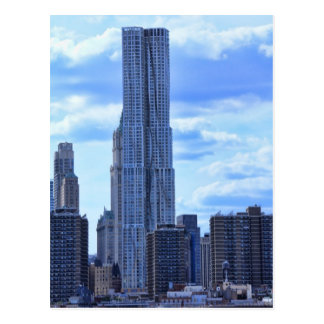 NY By Gehry / 8 Spruce St from the East River A1 Postcard