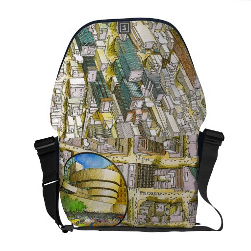 NY city map messenger bag