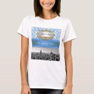 NY City Skyline D4 Customizable Invitation Suite T-Shirt