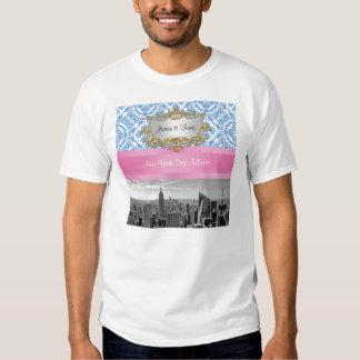 NY City Skyline D4 Customizable Invitation Suite Tshirt