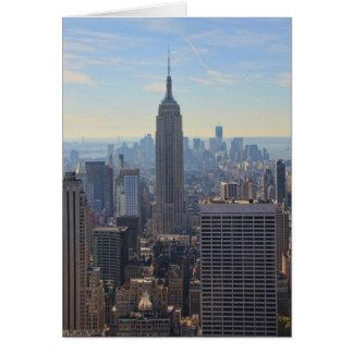 NY City Skyline Empire State Building, World Trade Card