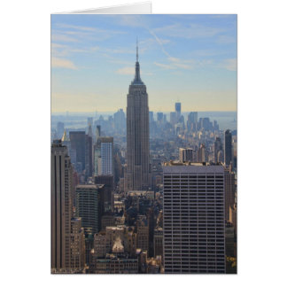 NY City Skyline Empire State Building, World Trade Greeting Card
