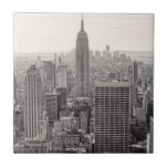 NY City Skyline Empire State Building, WTC BW