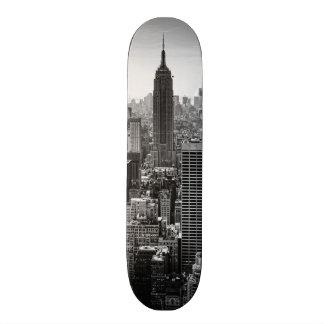 NY City Skyline Empire State Building, WTC BW 20.6 Cm Skateboard Deck