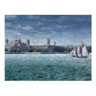 NY - Ellis Island Post Card