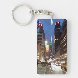 NY Empire State Building Single-Sided Rectangular Acrylic Key Ring