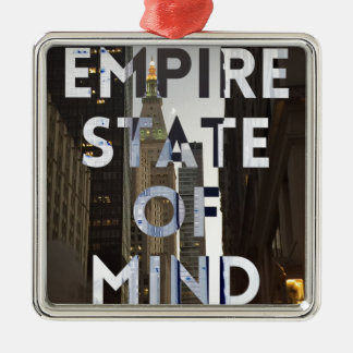ny empire state metal ornament