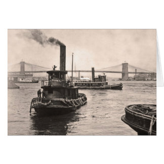 NY Harbor Tugs Card