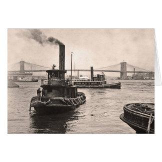 NY Harbor Tugs Greeting Card