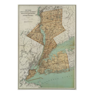 NY, Kings, Queens, Richmond, Rockland Poster