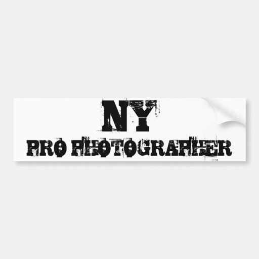NY PRO PHOTOGRAPHER Bumper Sticker