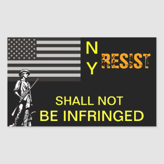 NY Resistance Rectangular Sticker