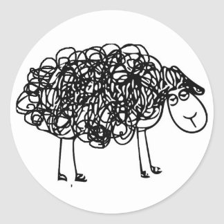 NYAHM Logo black sheep Classic Round Sticker