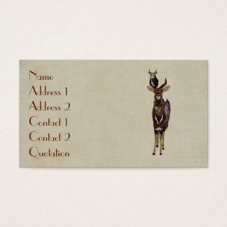 NYALA & VIOLET ANTLER OWL Business Card