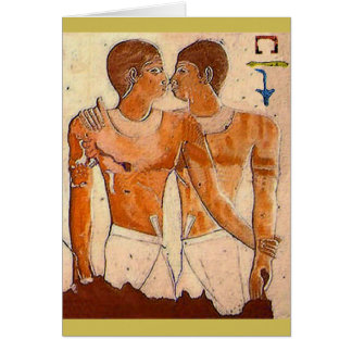 Nyankh-Khnum and Khnum-hotep Kissing Card