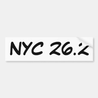NYC 26.2 bumper sticker